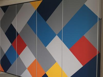 Budapest One irodaház / Mobilfal tapétázás XXl Textil tapétával