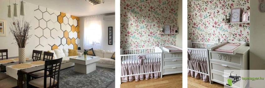 3D tapéta és egy baba szoba:)